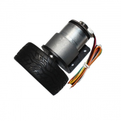 JGB37-520 Gearmotor with Encoder and Wheel (6 V, 18 RPM)