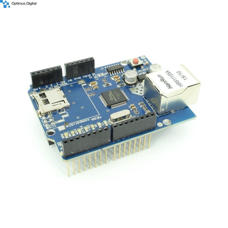 Shield ethernet pentru arduino w uno r mega