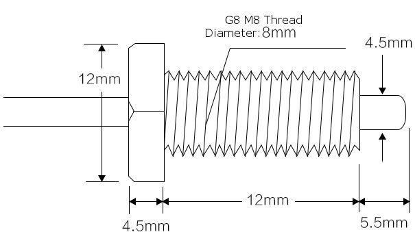 10 kΩ NTC Thermistor with M8 Thread (1